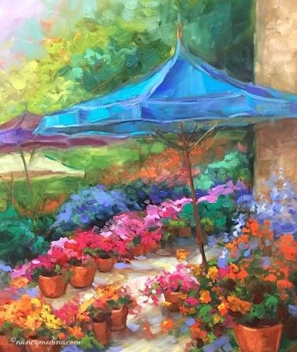 """Paint Briliant France - Shopper's Paradise"" original fine art by Nancy Medina"