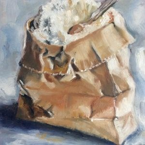"""""""Flour"""" original fine art by Sonja Neumann"""