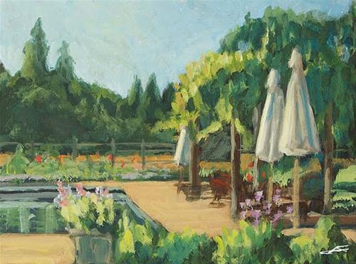 """""""Pool View"""" original fine art by J. Farnsworth"""
