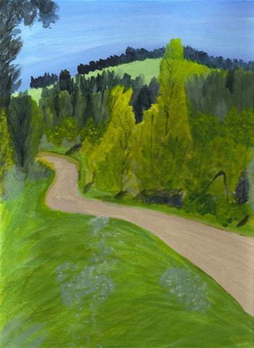 """German Landscape"" original fine art by Brenda Smith"