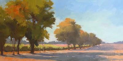 """Autumnal Morning"" original fine art by Laurel Daniel"