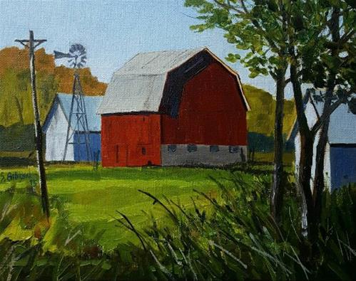"""Cali Hughes Farm"" original fine art by Steve Gibson"