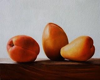 """Apricots"" original fine art by Jonathan Aller"