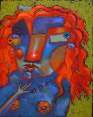 """Red Breasted Worry Wart"" original fine art by Brenda York"