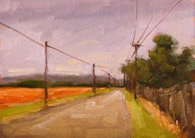 """The Road Goes On Forever"" original fine art by Laurel Daniel"