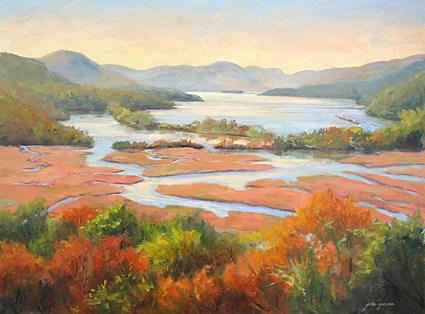 """Colors of the Hudson"" original fine art by Jamie Williams Grossman"