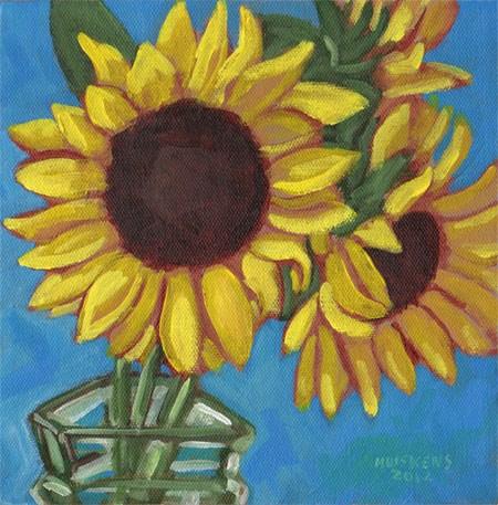 """Sunflowers No. 4"" original fine art by Randal Huiskens"