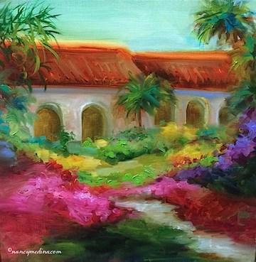 """Balboa Promenade and a San Diego Workshop - Paintings by Nancy Medina"" original fine art by Nancy Medina"
