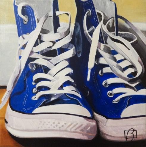 """""""Converse High Tops"""" original fine art by Andre Beaulieu"""