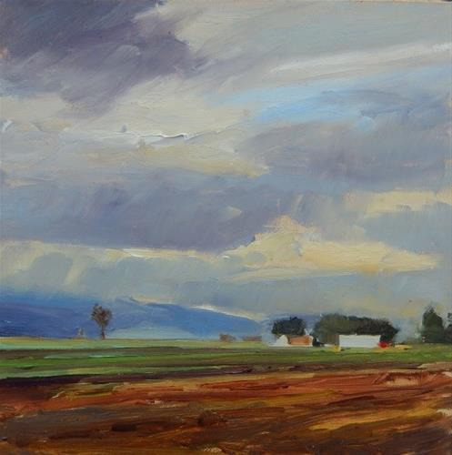 """California Farm Country oil landscape painting by Robin Weiss"" original fine art by Robin Weiss"