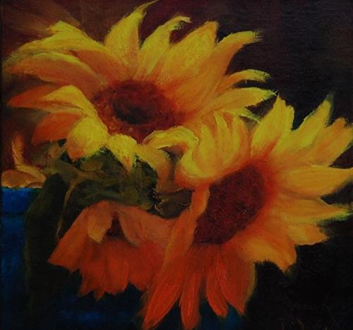 """Let the  Sunshine In"" original fine art by Dorothy McLennan"