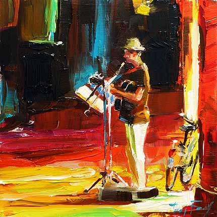 """""""Musiker"""" original fine art by Jurij Frey"""