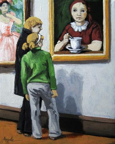 """""""A Day Together art museum oil painting"""" original fine art by Linda Apple"""