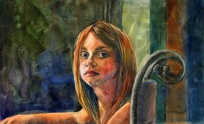 """Watercolor: Independence Day"" original fine art by Belinda Del Pesco"