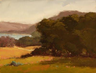 """""""Lake Road"""" original fine art by Laurel Daniel"""