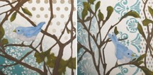 """Bird Paintings works in progress"" original fine art by Diane Hoeptner"