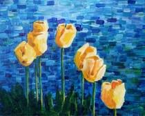 """Tulips"" original fine art by Maggie Flatley"