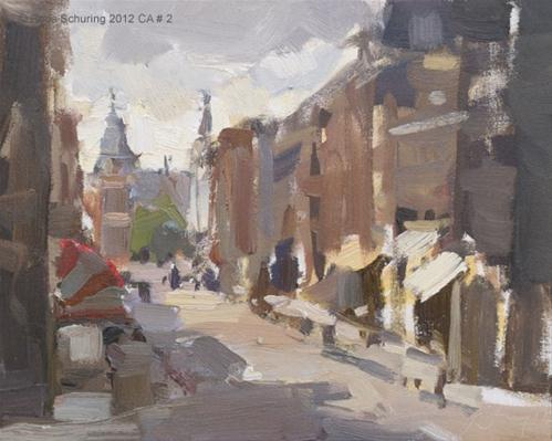 """""""Cityscape Amsterdam #2 Afternoon view upon Rijksmuseum"""" original fine art by Roos Schuring"""