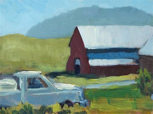 """Slow Delivery"" original fine art by J. Farnsworth"