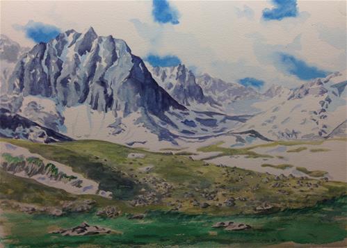 """""""The Pyrenees in Andorra"""" original fine art by Eileen Hennemann"""