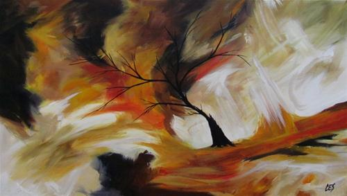 """Cataclysmic Pole Shift"" original fine art by ~ces~ Christine E. S. Code"