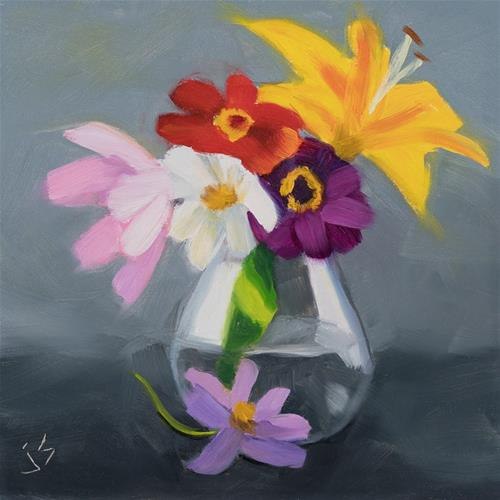 """Small Bouquet"" original fine art by Johnna Schelling"