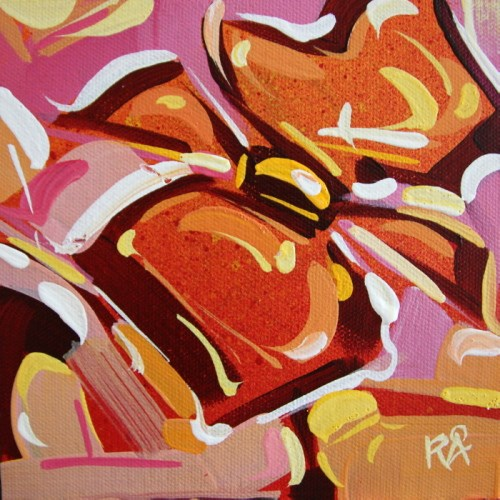 """""""Flower Abstraction 181"""" original fine art by Roger Akesson"""
