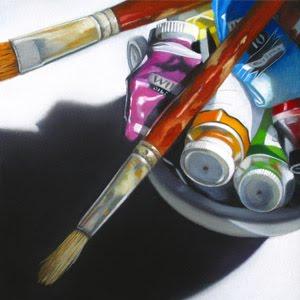 """""""Color Bowl No.2"""" original fine art by M Collier"""