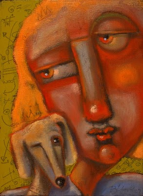 """Quizzical Hound"" original fine art by Brenda York"