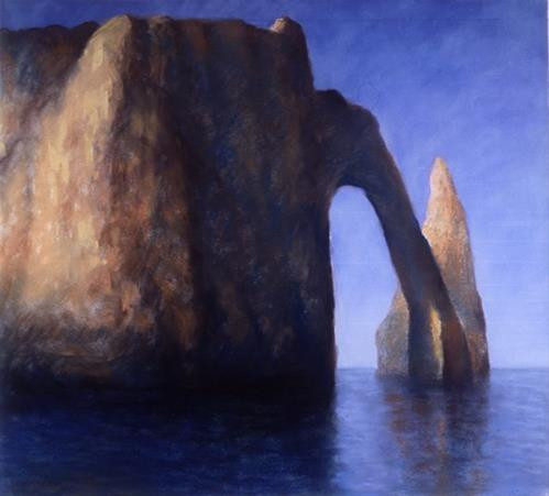 """Etretat I"" original fine art by Joe Fitzgerald"