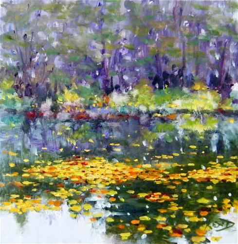 """""""Yvon's Pond"""" original fine art by Ken Devine"""