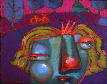 """The Princess And The Pink Barbie Bike"" original fine art by Brenda York"