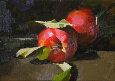 """Fresh Nectarines"" original fine art by Qiang Huang"
