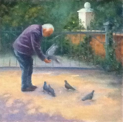 """Feathered Friends"" original fine art by Linda Carney"