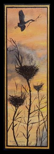 """New Arrivals, Left Panel   Triptych"" original fine art by Captain B Smith"