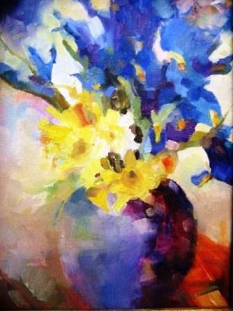 """""""Rhapsody in Blue"""" original fine art by Scarlet Owl Studio"""