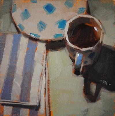 """Patterned Espresso"" original fine art by Carol Marine"