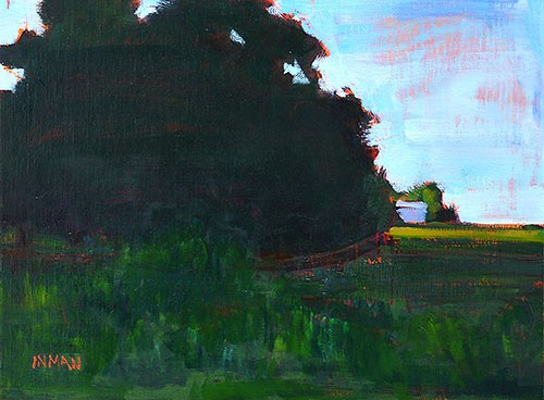 """""""Green Afternoon, Oklahoma"""" original fine art by Kevin Inman"""