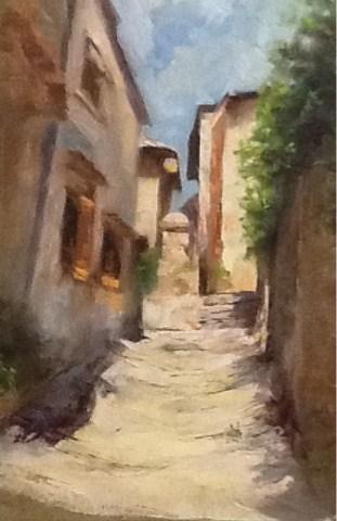 """Charming Passage"" original fine art by Diana Delander"