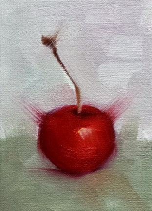 """Cherry Cola"" original fine art by Cindy Haase"
