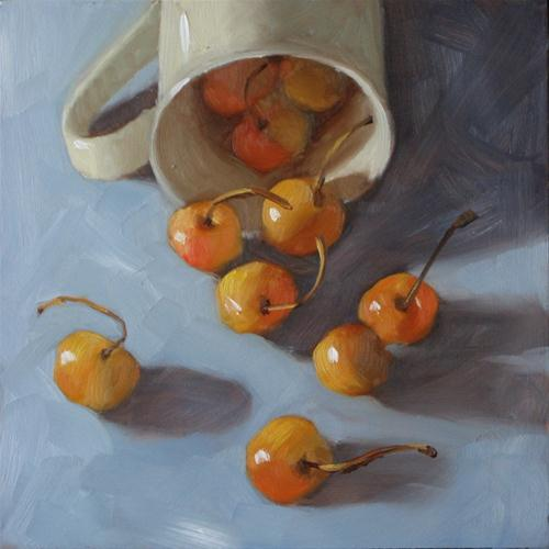 """""""We're free at last! 6x6  oil on panel"""" original fine art by Claudia Hammer"""