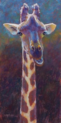 """G is for Giraffe (and the Little Rock Workshop)"" original fine art by Rita Kirkman"