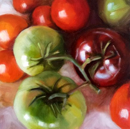 """Tomato Harvest"" original fine art by Cindy Haase"