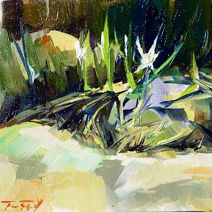 """""""Die Blume des Strandes"""" original fine art by Jurij Frey"""