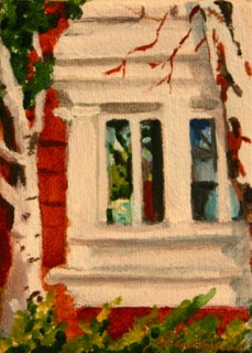 """On the Outside Looking in, the mini version"" original fine art by JoAnne Perez Robinson"