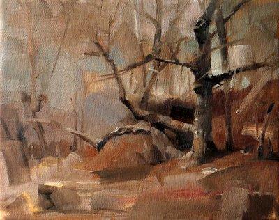 """""""Apache Shores"""" original fine art by Qiang Huang"""