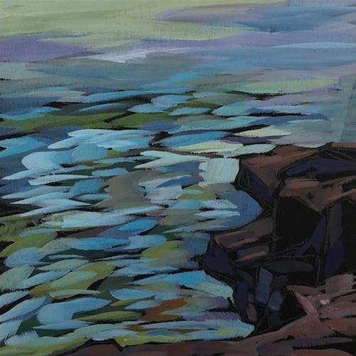 """""""Evening Water"""" original fine art by Kat Corrigan"""