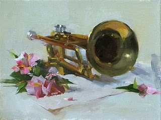 """Beautiful Sound"" original fine art by Qiang Huang"