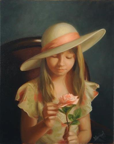 """Allison #704"" original fine art by Dee Lessard"