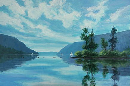 """Turquoise Waters"" original fine art by Jamie Williams Grossman"